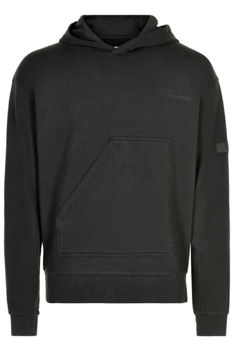 HALO COTTON HOODIE - BLACK
