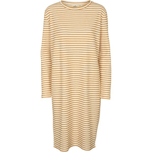 VENDELA DRESS - INCA GOLD/OFF WHITE