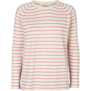 SOYA SWEATER - WHISPER WHITE/WILD ROSE