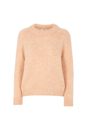 ALIKI KNIT SWEATER - DUSTY CORAL MELANGE