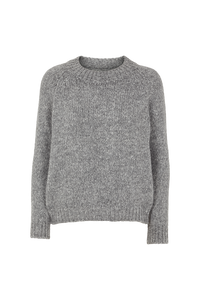 ALIKI KNIT SWEATER - LIGHT GREY MELANGE