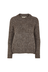 ALIKI KNIT SWEATER - BROWN  MELANGE