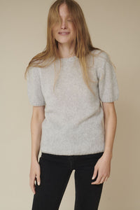 MARNIE SWEATER TEE - LIGHT GREY MELANGE