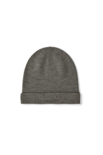 VERA MERINO WOOL BEANIE - LIGHT GREY MELANGE