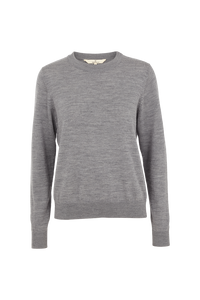 VERA MERINO WOOL SWEATER - LIGHT GREY MELANGE