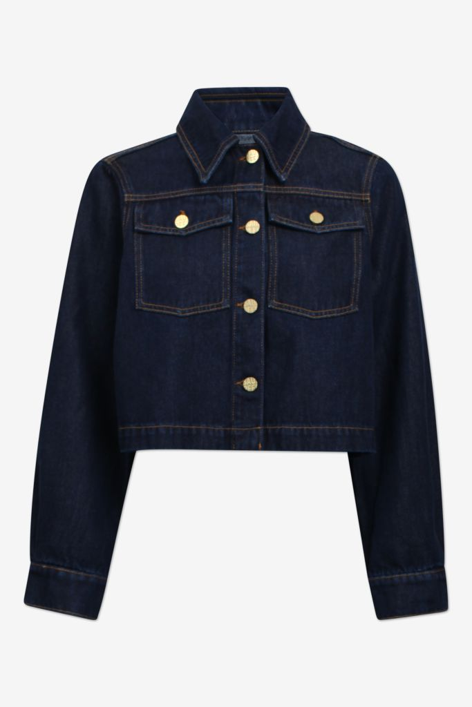 BENNA DENIM JACKET - DARK WASH DENIM