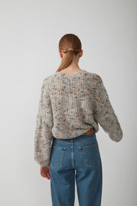 ALMINE KNIT BLOUSE - NATURE