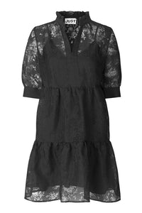KIKI SHORT DRESS - BLACK
