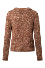 ALPHA PULLOVER KNIT - RUST BROWN