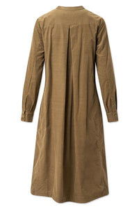 PAULA CORDUROY DRESS - BEECH