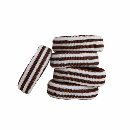 EMMA ELASTIC - BROWN STRIPES