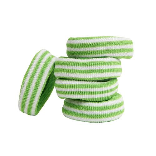 EMMA ELASTIC - GREEN STRIPES