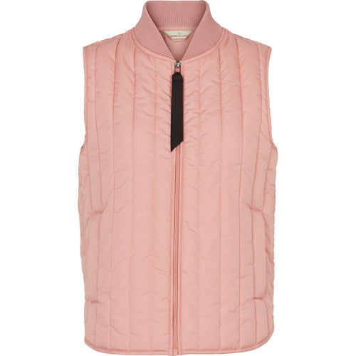 LOUISA SHORT VEST - ROSE TAN