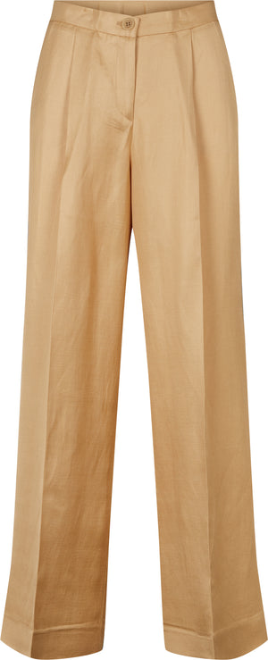 MIRIAM TWILL LUX PANTS - LIGHT CAMEL