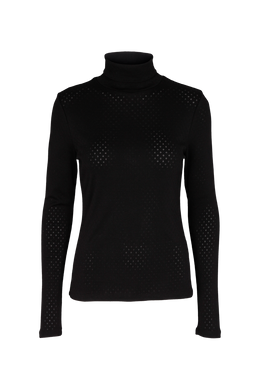 ARENSE ROLL NECK ORGANIC GOTS - BLACK