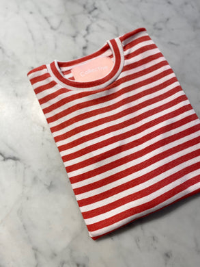 NILUH LS BASIC TEE - RED STRIPE