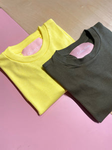 NILUH LS BASIC TEE - YELLOW