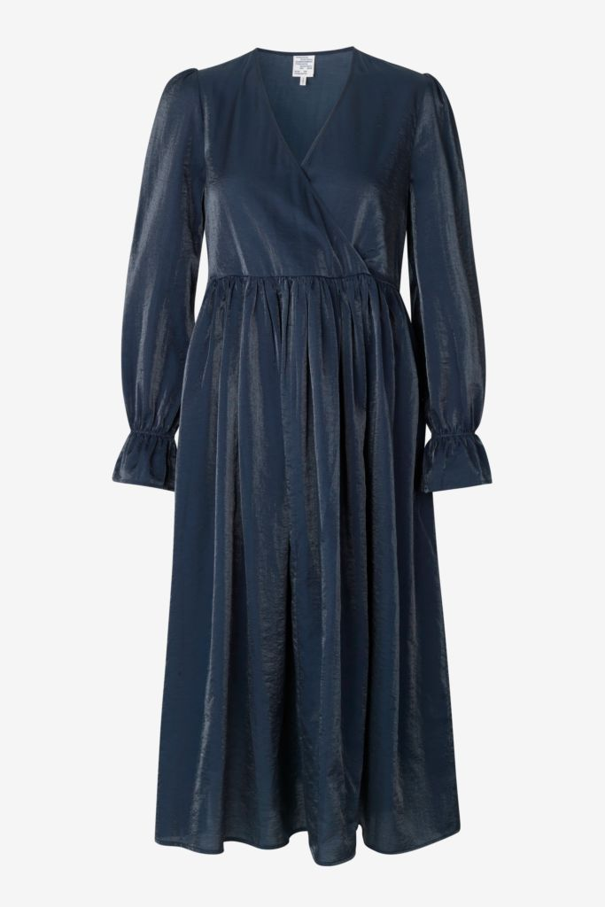 AXELLE MIDI DRESS - PEACOAT