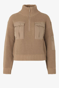 CLYDE KNIT SWEATER - CAMEL