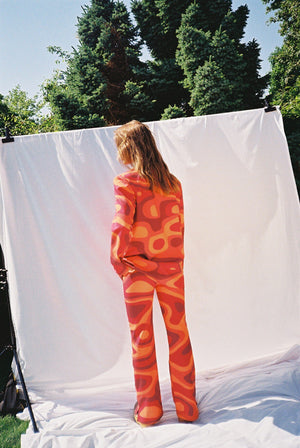 TINA PANTS - ORANGE WAVES