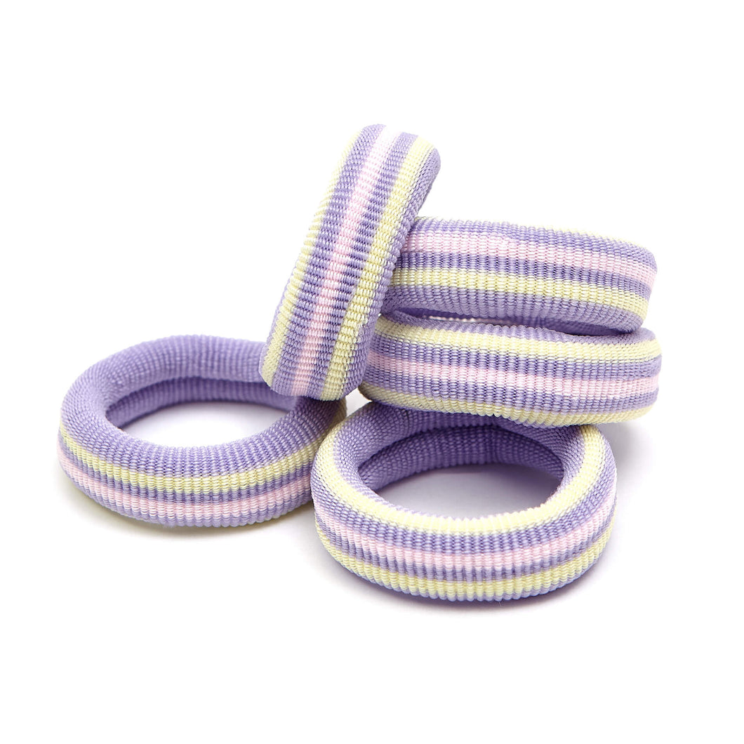 EMMA ELASTIC - LIGHT PURPLE STRIPE