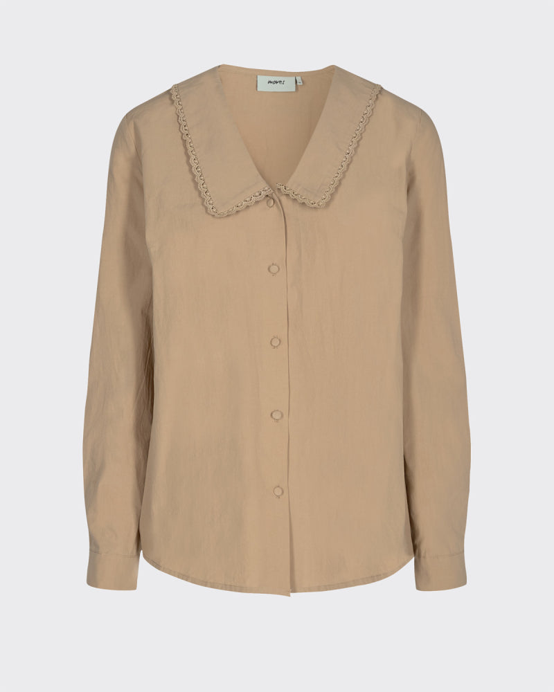 RAVILLE LONG SLEEVED SHIRT - CAMEL