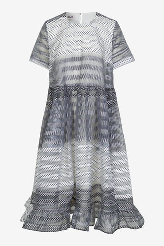 ARIA SS ORGANZA MIDI DRESS - POLKA DOT GRADIENT