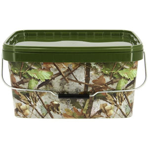 12.5 Litre NGT Square Camo Bucket with Metal Handle