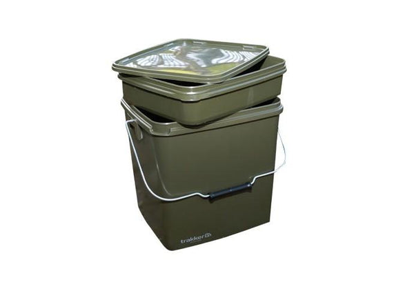 Trakker 13ltr Olive Square Container Inc Tray
