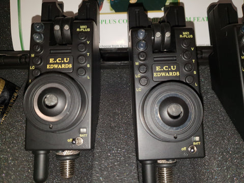Image of ECU MK1 R-Plus Compacts Remote Bite Alarms Plus Receiver - 3 Rods
