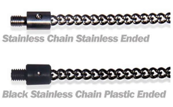 Solar Black Stainless Chunky Chain Plastic Ended 12 Inch