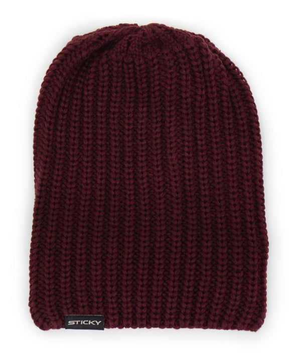 Sticky Maroon Knitted Beanie