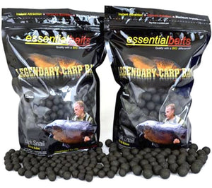 FROZEN Essential Black Snail Shelf Life Boilies 1kg