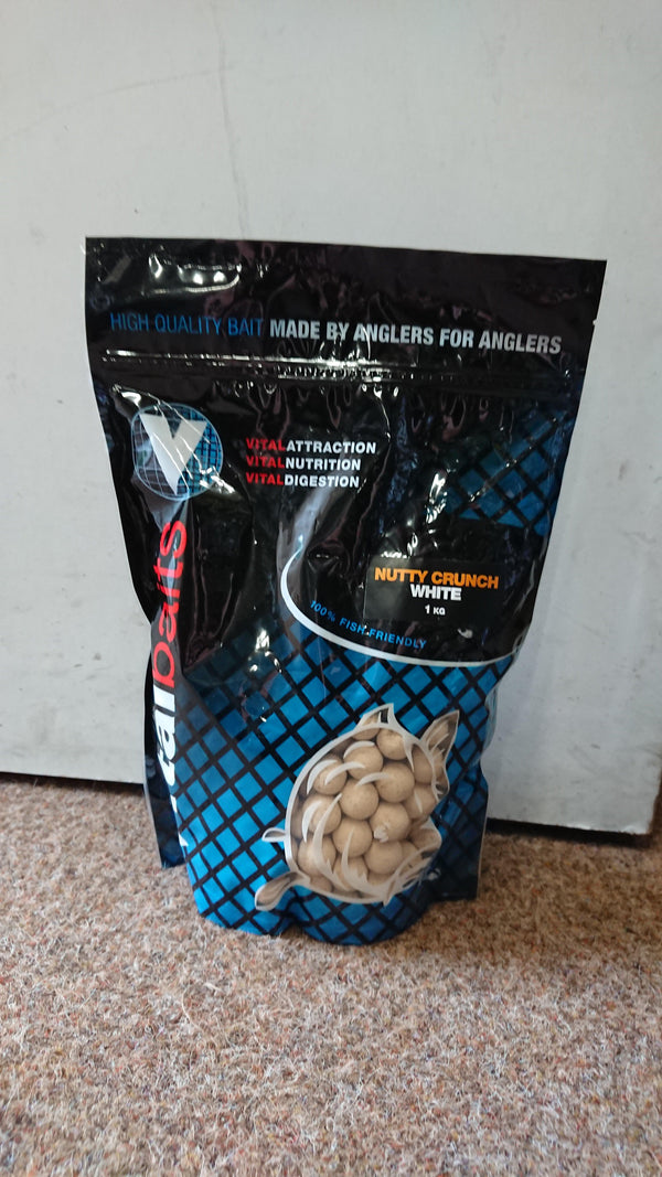 Vital Baits Nutty Crunch White Boilies