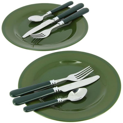 Image of NEW (NGT) Day / Night Fishing / Camping Cutlery PLUS Set - in Camo