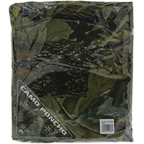 Angling Pursuits Camo Poncho - Instant Waterproofing For Anglers
