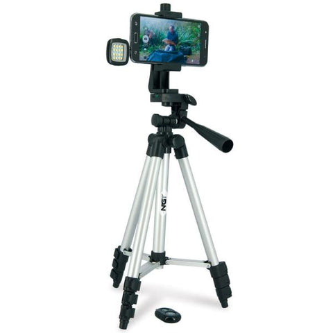 Image of Carp Anglers Tripod - Self shooting Camera Stand, Bluetooth Button Included