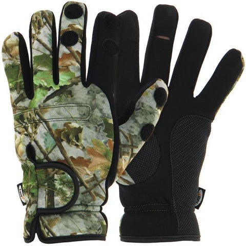 Image of Camo Neoprene Fishing Gloves