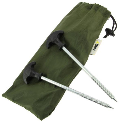 A Pack of 10 x 20cm Bivvy Pegs in Case