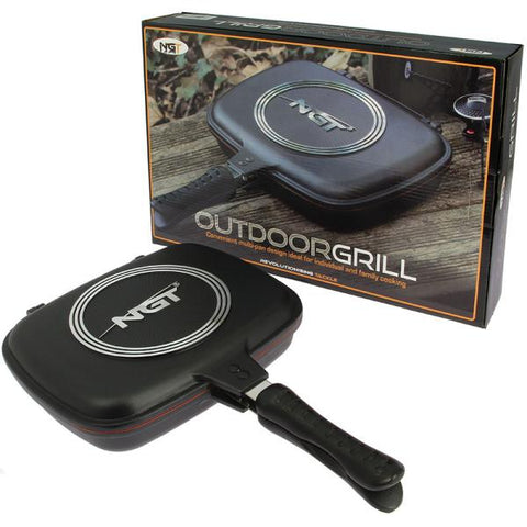 NEW - Double Grill Pan - Non Stick Die Cast Grill Pan