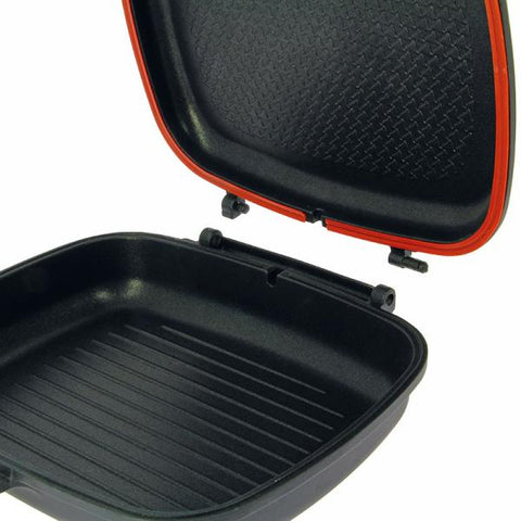 Image of NEW - Double Grill Pan - Non Stick Die Cast Grill Pan