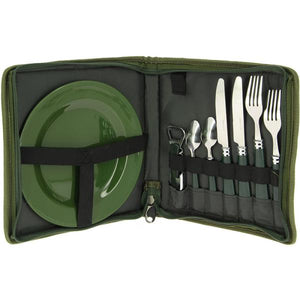 NEW (NGT) Day / Night Fishing / Camping Cutlery PLUS Set - in Camo