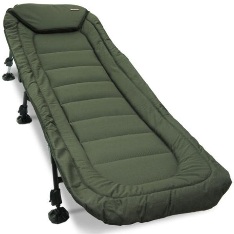 Specimen Anglers Bedchair - 6 Leg, Recliner with Pillow