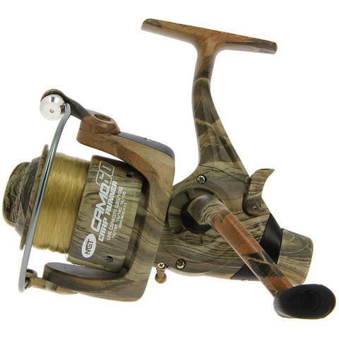 Image of Ngt Camo60 3BB 'Carp Runner' Reel With 12lb Line + Spare Spool