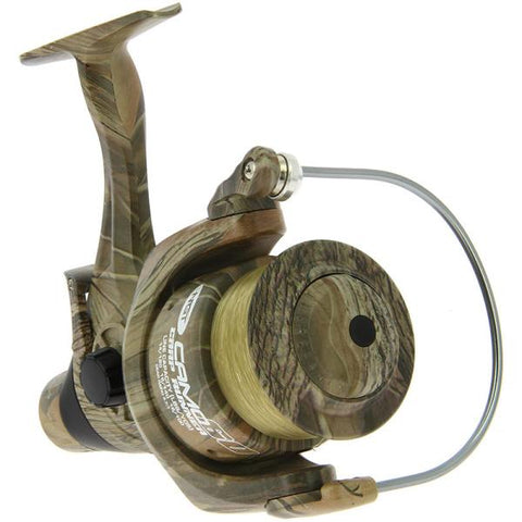 Ngt Camo60 3BB 'Carp Runner' Reel With 12lb Line + Spare Spool