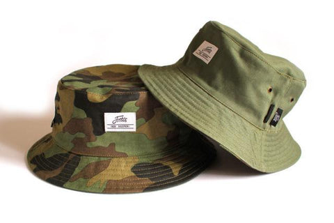 Fortis Eyewear NEW Reversible Camo Green Bucket Hat