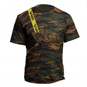 Vass Embroided Camouflage T Shirt Inc Yellow Strap