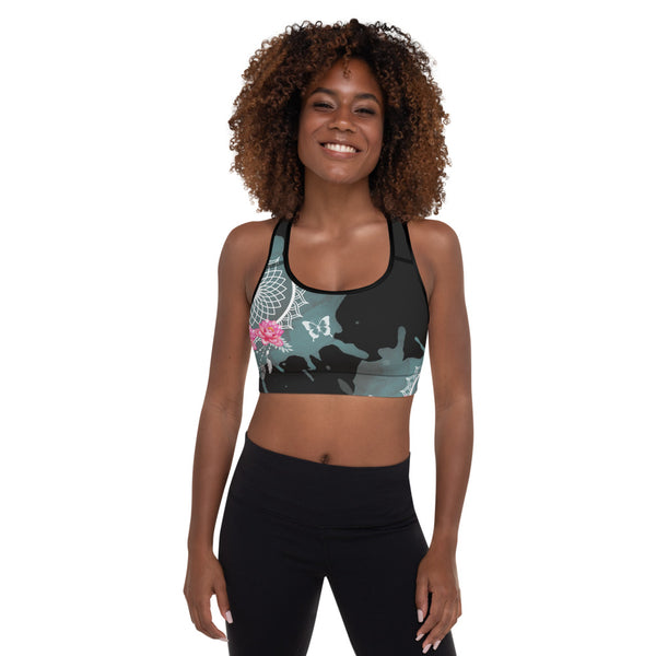 Rose Padded Sports Bra