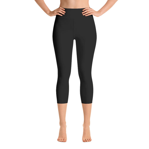 Black Yoga Capri Leggings - Mila J & Co.