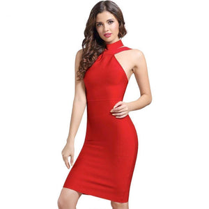 13dc5f05f8b7 Women s Evening Sexy Dress in Blue Red Black White-Dresses-Damiswear